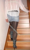 minijupe jeans chemise blanche 13