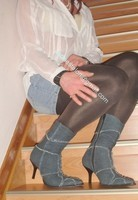 minijupe jeans chemise blanche 9