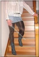 minijupe jeans chemise blanche 11