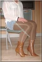 minijupe jeans chemise blanche 7