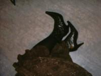 botillon noir dessin dentelle avec jupe a fleurs maron16