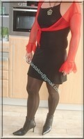 robe sexy bolero rouge 2