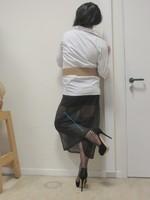 jupe noir tranparente avec jaretelles noir 7
