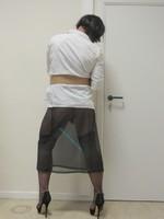 jupe noir tranparente avec jaretelles noir 1