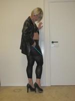 Jupe noir oh boy et legging dessin 1