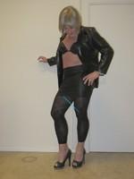 Jupe noir oh boy et legging dessin