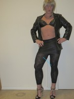 Jupe noir oh boy et legging dessin 12