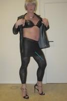 Jupe noir oh boy et legging dessin 16