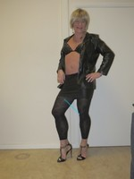 Jupe noir oh boy et legging dessin 18
