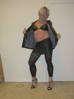Jupe noir oh boy et legging dessin 22
