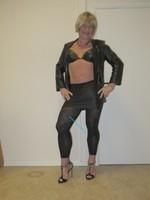 Jupe noir oh boy et legging dessin 25