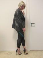 Jupe noir oh boy et legging dessin 30