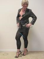 Jupe noir oh boy et legging dessin 33