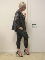 Jupe noir oh boy et legging dessin 31