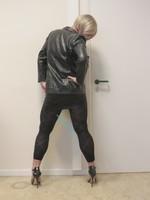 Jupe noir oh boy et legging dessin 34