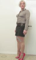 Jupe noir Esmara chemise marron 6