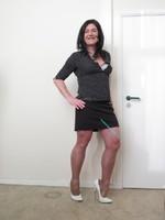 Jupe noir Esmara et chemise noir Woman 10