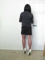 Jupe noir Esmara et chemise noir Woman 6
