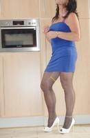 Robe bleu Bretelles elastique 3
