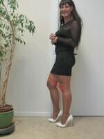robe noir avec manches en tule transparent DIVIDED 34