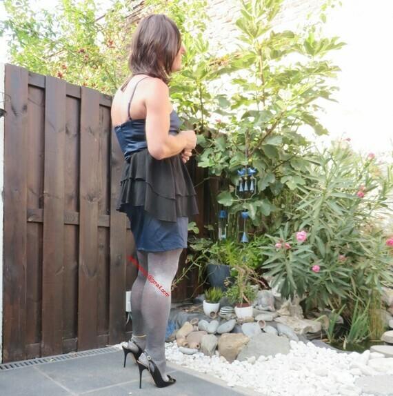 Robe habiller satine bleu clair noir HM 6
