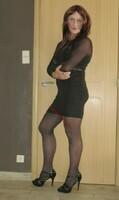 robe noir avec manches en tule transparent DIVIDED 4