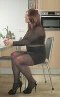 robe noir avec manches en tule transparent DIVIDED 9