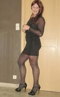 robe noir avec manches en tule transparent DIVIDED 25