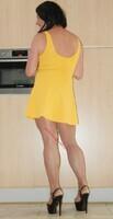 robe jaune forever 21 1
