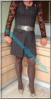 robe marron ligne 10