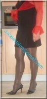 robe noir sexy et bolero rouge 1
