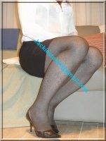 escarpin noir Bella Woman 9.5 cm avec minijupe noir 1