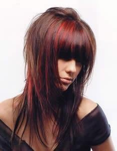 Couleur de cheveux rouge meche blonde