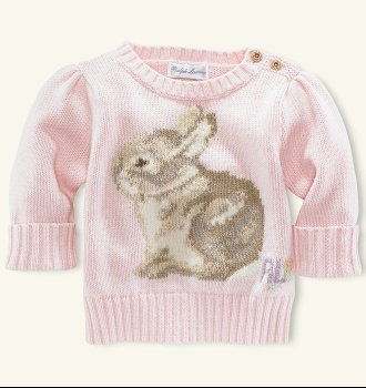 Cotton Bunny Sweater  $70 by ralph lauren