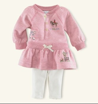 gwynn fleece dress set by ralph lauren $60