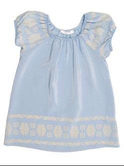 scoop neck dress, blue by Twelfth street baby $113