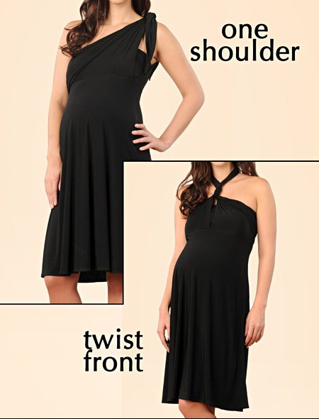6 Way Convertible Maternity Dress by a pea in the pod3 $88