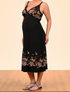 Spaghetti Strap Empire Waist Maternity Dress by a pea in the pod