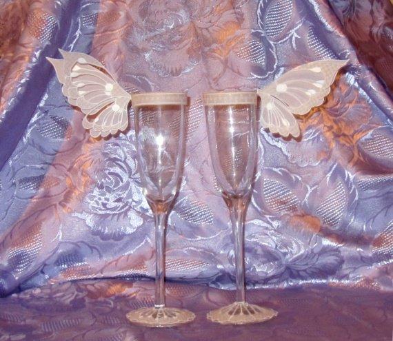 Flûte marque place papillon, cadeaux de mariage