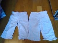 pantalon rose pale et blanc ( tache)