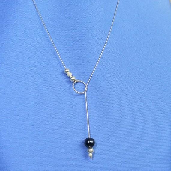 DIY collier perle noire