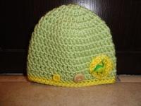 Chapeau vert dinosaure