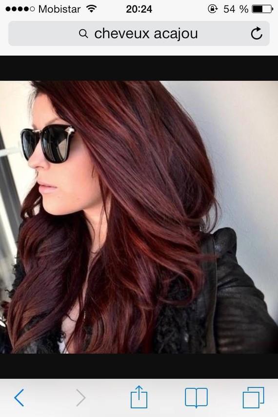 Cheveux noir je r ve d 39 un acajou possible - Couleur noir bleute ...