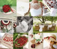 cherry-theme-picnic-wedding