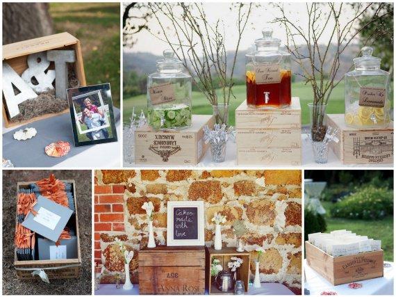 Caisse de vin en bois décoration mariage Pimp Your Wedding
