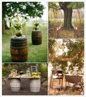 decorationsdemariage_mariage_automne_decoration_salle_tonneau_meuble_rubans_arbre