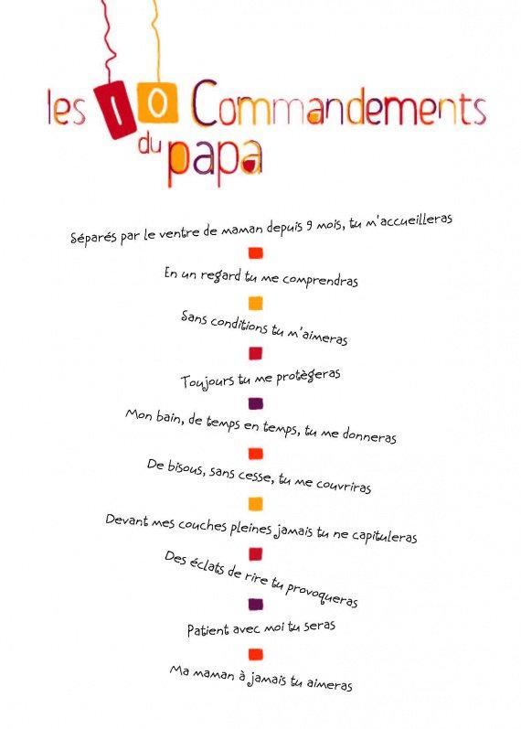 10 Commandements Futur Papa