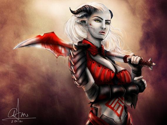 dragon_age___qunari_woman_by_sasorizanoko-d60vcld