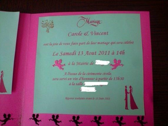 mon faire-part invitation au mariage