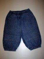 Pantalon effet boule en jean- 12 mois - 1€